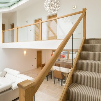 Contemporary Oak and Glass Staircase