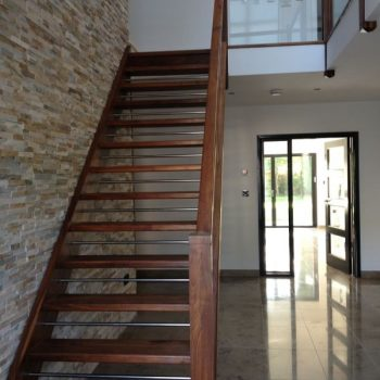 Open Plan Staircase with Chrome Risers