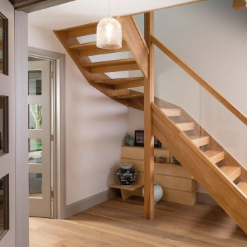 Solid Oak Open Riser Staircase