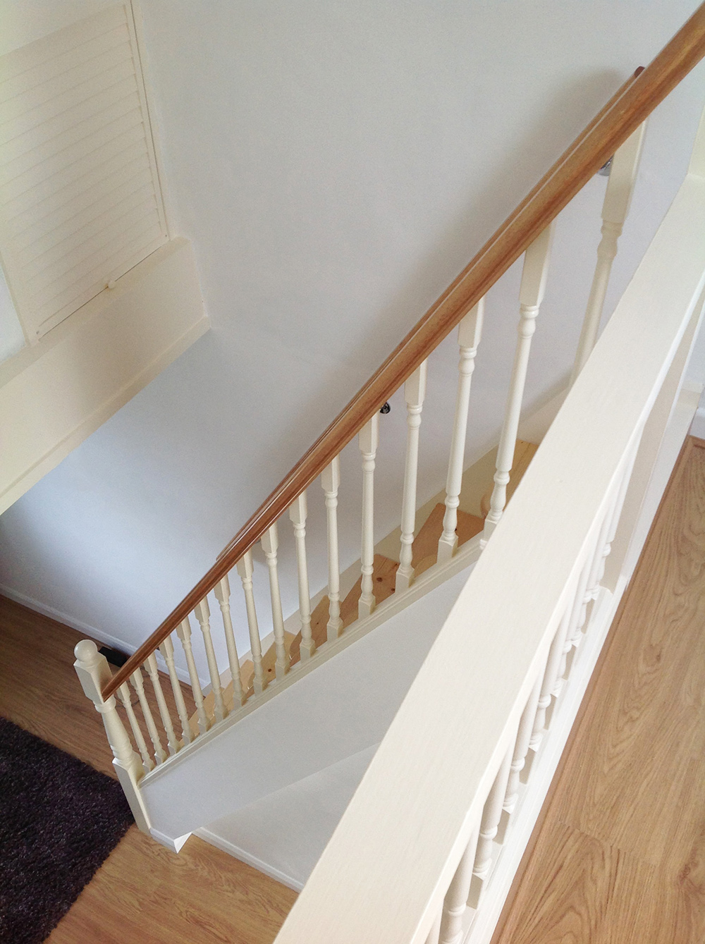 Stairbox White And Pine Spacesaver Staircase