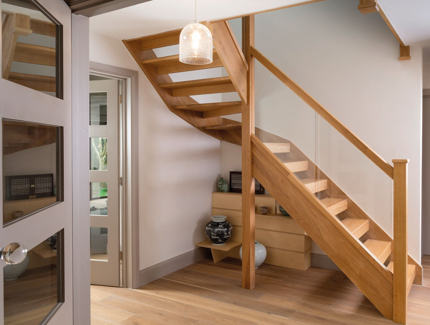 Oak Open Plan Stair Design