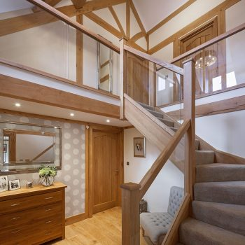 Oak Frame - Oak and Glass Staircase